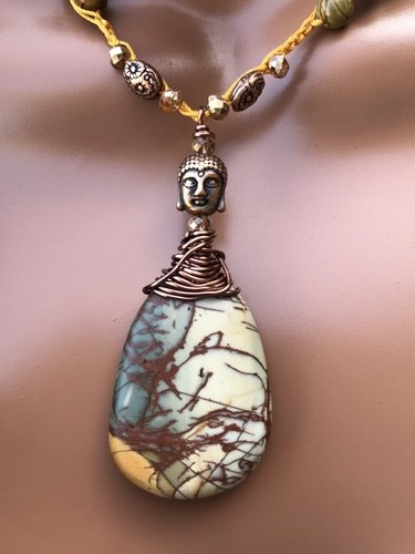 Picasso Jasper Necklace by Denise Bellinger  - featured on Jewelry Making Journal