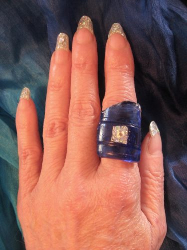 Shangri-La Beach Glass Ring by Tamara Robertson  - featured on Jewelry Making Journal