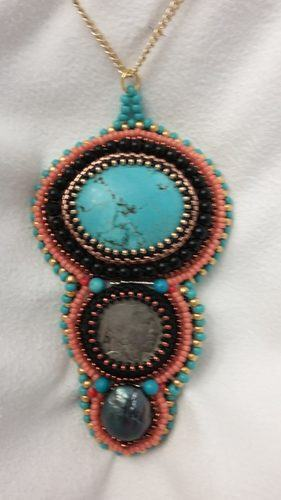 I Love Bead Embroidery by Caroline Jones  - featured on Jewelry Making Journal