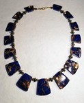 Lapis Necklace and Christmas Ornaments by Chris Rehkop - featured on Jewelry Making Journal