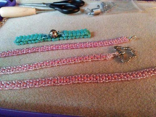 Awareness Bracelets in Honor of a Dear Friend by Karen Watson  - featured on Jewelry Making Journal