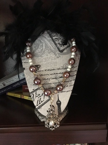 French Style with Victorian Pendant by Cate  - featured on Jewelry Making Journal