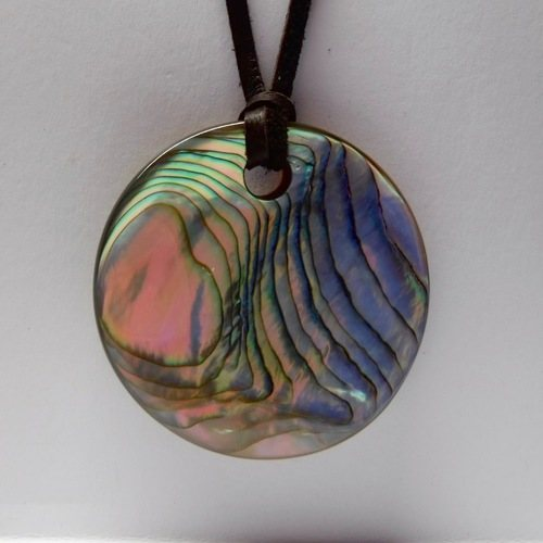 Re-Purposed Glass & Abalone Pendants by Ronald P Black  - featured on Jewelry Making Journal