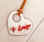 Enamel Heart Pendant by Andrea Packheiser - featured on Jewelry Making Journal