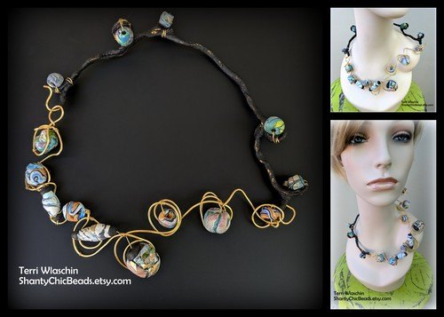 Unique Jewelry - Take a Walk on the Wild Side - Hey Girl by Terri Marie Wlaschin
