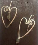 Heart Ear Wires - My Version by Ingrid - featured on Jewelry Making Journal