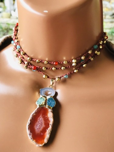 Bohemian Beauty Necklace by Denise Bellinger  - featured on Jewelry Making Journal