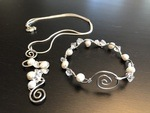 Recycle/Repurpose - Freshwater Pearls and Glass Chips by Melissa Jones - featured on Jewelry Making Journal