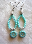 Fun Earrings with Wire, Beads and Chain by Kathy Zee - featured on Jewelry Making Journal