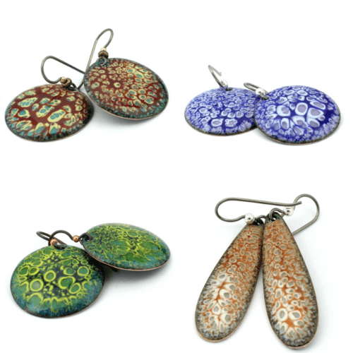 More in the Enamel Trail - Lichen-series by Dianne Jacques  - featured on Jewelry Making Journal