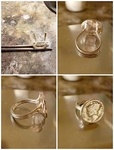 Mercury Head Dime Coin Ring by L. Wood - featured on Jewelry Making Journal