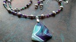 Purple and Green Agate Set by Carey Gray - featured on Jewelry Making Journal