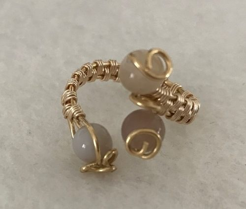 Gold Coloured Copper Wire Wrapped Ring by Bernadine Makins  - featured on Jewelry Making Journal
