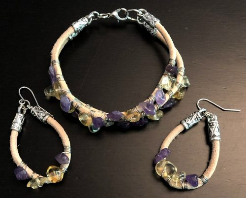Exploring Leather - Hoops, Bracelets and Beads by Melissa Jones  - featured on Jewelry Making Journal