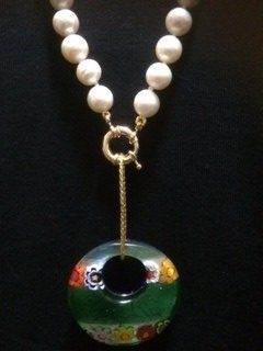 Murano Pendant with Pearls by Corrine Bateman  - featured on Jewelry Making Journal