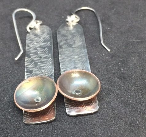 Flame Painting Copper by Elizabeth Reid  - featured on Jewelry Making Journal