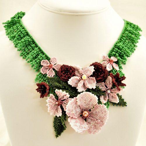 Flower Power Necklace by Nancy Rocknich  - featured on Jewelry Making Journal