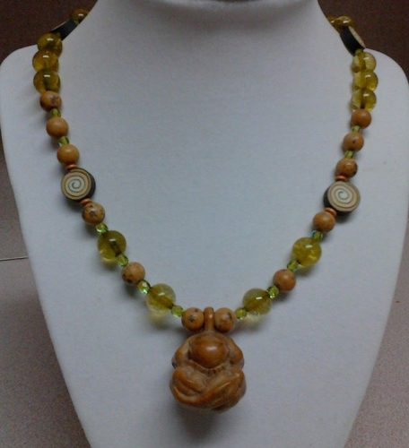 Weeping Buddha Necklace by Jiovannina Ramos  - featured on Jewelry Making Journal