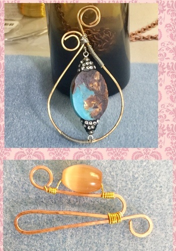 Just Wanted to Show My Progress with Wire Jewelry! by LuElla Spears  - featured on Jewelry Making Journal