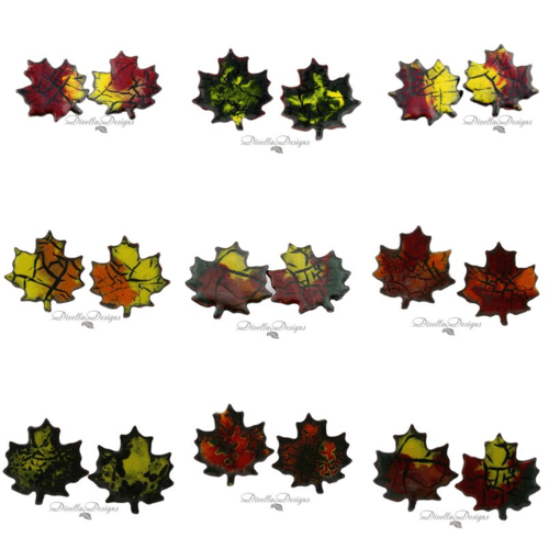 Maple Leaves in Enamel by Dianne Jacques  - featured on Jewelry Making Journal