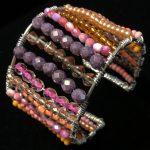 Beaded Wire Cuffs by Patt Sheldon - featured on Jewelry Making Journal