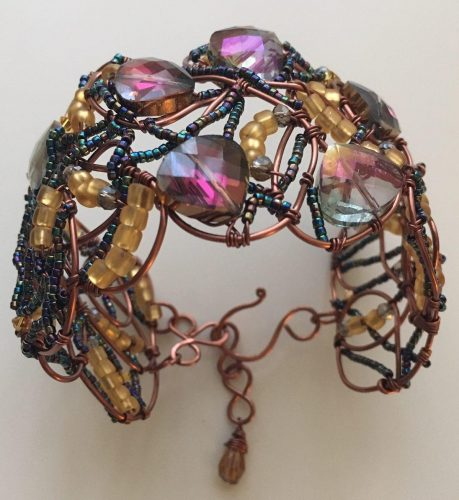 Purple Heart Bracelet by Patricia Torres  - featured on Jewelry Making Journal