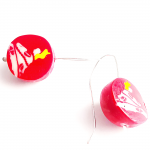 Faux-Christmas-Candy-Earrings by Mihaela Georgescu - featured on Jewelry Making Journal