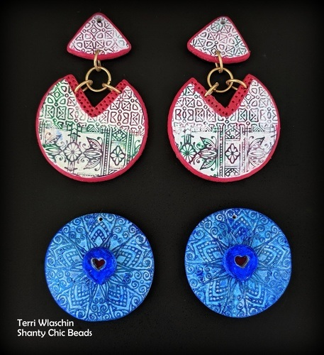 Holidays are Coming - Serbian Inspired Polymer Clay Earrings