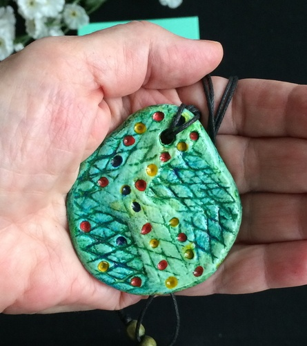 Pendants Created from Paper aka Papier Mache Clay (PMC) - Best out of Waste, by Matsa Zilih  - featured on Jewelry Making Journal
