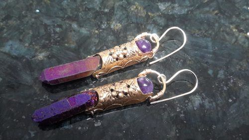 Recycled Brass Earrings by Angela Bradley  - featured on Jewelry Making Journal