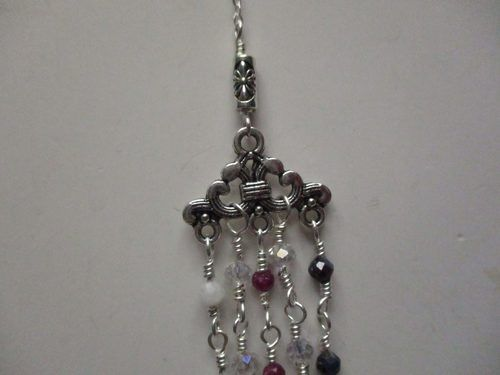 Ruby, Sapphire, Tourmaline Quartz and Clear Crystal Beads