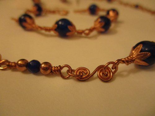 Copper and Sapphire Blue Jewelry Set by Michelle Boucher-Garrison  - featured on Jewelry Making Journal