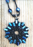 Black Ice Pendant by Debbie Frost - featured on Jewelry Making Journal