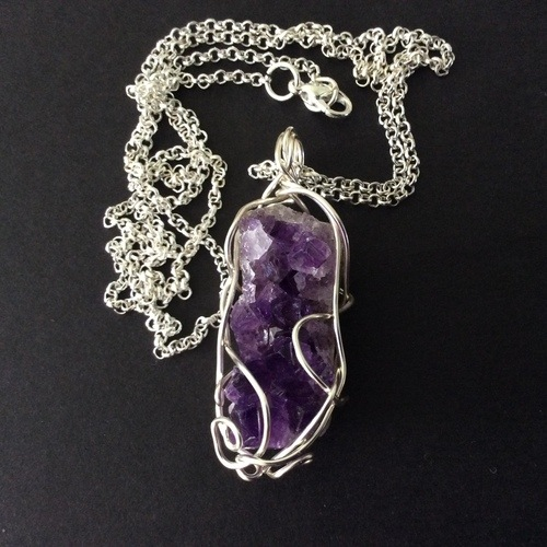Amethyst Diode Pendant by Miriam Laister  - featured on Jewelry Making Journal
