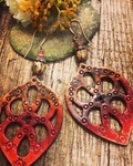 Leather Earrings, so Lightweight, so Popular and so Fun to Make by Dianna - featured on Jewelry Making Journal