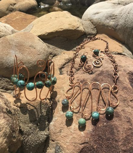 Copper Swirls by Kathy Kirsch  - featured on Jewelry Making Journal