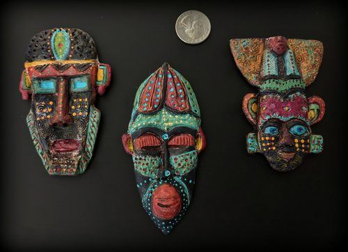 Going Tribal - Poly Clay Masks! by Terri Wlaschin  - featured on Jewelry Making Journal