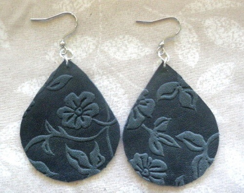 Earrings Using Leather, by Kathy Zee  - featured on Jewelry Making Journal