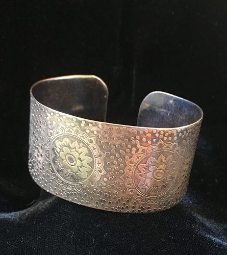 Etched Copper Bracelet, by May Haven  - featured on Jewelry Making Journal