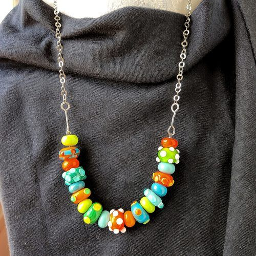 Joyful Necklace in Difficult Times by Jo Ann Rabinov  - featured on Jewelry Making Journal