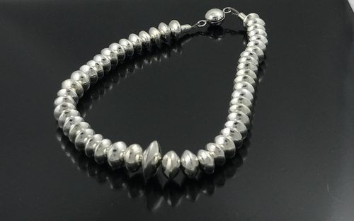 Sterling Silver Bead Necklace by Jo Ann Graham  - featured on Jewelry Making Journal