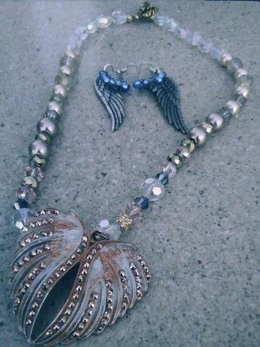 "Jewelry ""Lifted Up On Angel Wings!""by Beverly Borwick  - featured on Jewelry Making Journal"