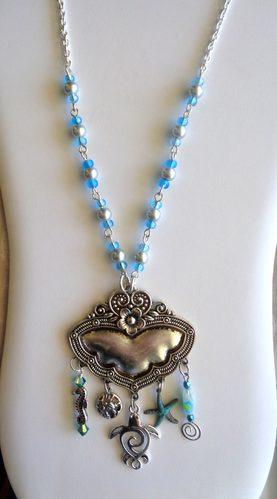 Necklace with Charms and Connectors by Kathy Zee  - featured on Jewelry Making Journal