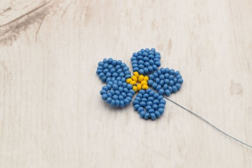 Forget Me Not Necklace and Barrette by Nancy Rocknich  - featured on Jewelry Making Journal