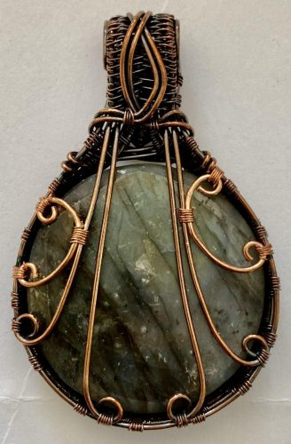 Wire Weaving Project by Mary  - featured on Jewelry Making Journal
