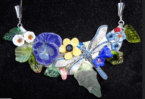 Dragonfly in the Flowers, by Debra Lowe
