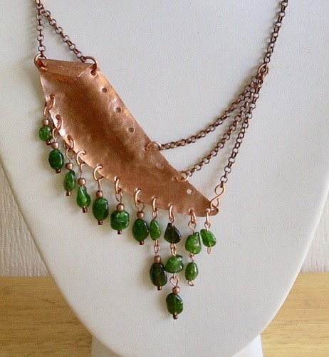 Another Scrap, Turned into a Necklace, by Nancy Vaughan  - featured on Jewelry Making Journal