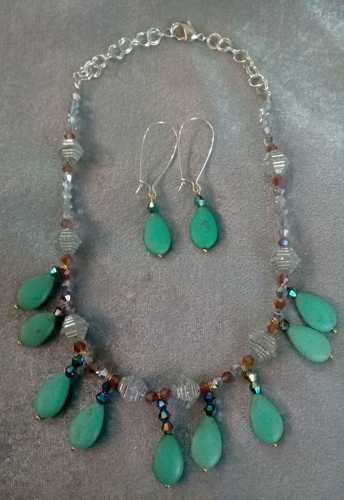 Cascading Necklace Set, by Linda Inniss