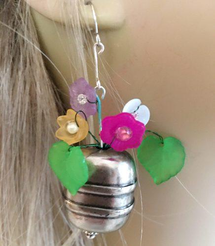 Vase of Flowers Earrings, by Barbara Sims