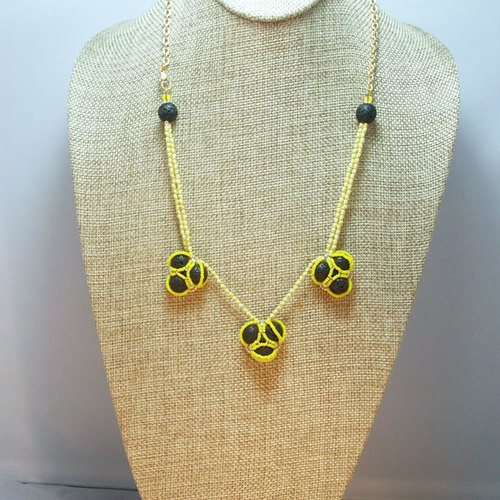 Lava Beaded Necklace, by Sande Gene